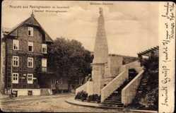 Postcard Assinghausen Olsberg Hochsauerland, Grimme Denkmal, Gasthof Würminghausen