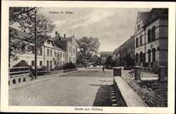 Postcard Olsberg im Hochsauerlandkreis, Straßenpartie mit Kurhaus Dr. Grüne