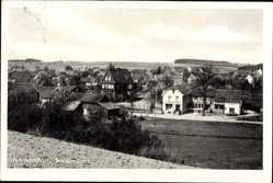 Postcard Niederbach im Westerwald, Gesamtansicht vom Feld aus gesehen