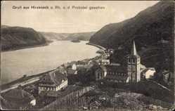 Postcard Hirzenach Boppard im Rhein Hunsrück Kreis, Stadtteil von Probstei gesehen