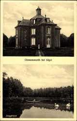 Postcard Sögel im Emsland, Blick auf Schloss Clemenswerth, Schlossteich