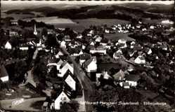 Postcard Herscheid im Sauerland, Ebbegebirge, Blick auf den Ort, Fliegeraufnahme