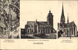 Postcard Duisburg im Ruhrgebiet, Blick auf die Salvatorkirche, Fassade