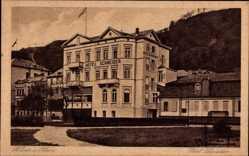 Postcard St. Goar im Rhein Hunsrück Kreis, Blick auf das Hotel Schneider