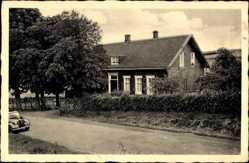 Postcard Ennepetal Milspe, Straßenpartie, Auto, Haus, 60 Jahre Schule Vorwerk