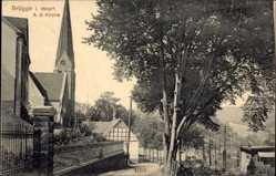 Postcard Brügge Lüdenscheid im Märkischen Kreis, Partie an der Kirche