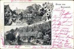 Postcard Barmstedt im Kreis Pinneberg, Auf Rantzau, Waldburg, Gewässer