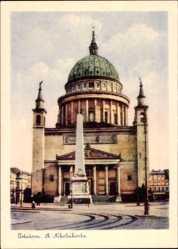 Postcard Potsdam in Brandenburg, Blick auf die St. Nikolaikirche, Denkmal