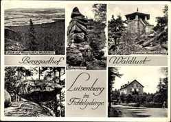 Postcard Luisenburg Wunsiedel im Tal der Röslau Oberfranken, Berggasthof Waldlust
