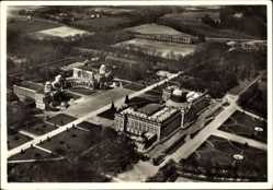 Postcard Potsdam in Brandenburg, Neues Palais mit Communs, Fliegeraufnahme