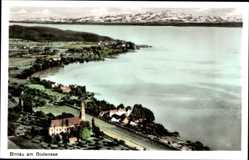 Postcard Birnau Uhldingen Mühlhofen im Bodenseekreis, Blick auf den Ort, See, Berge