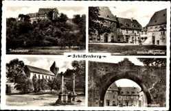 Postcard Schiffenberg Gießen an der Lahn Hessen, Kloster, Kapelle, Nordportal