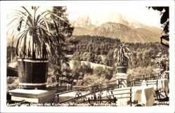Postcard Berchtesgaden in Oberbayern, Garten des Kurhotels Wittelsbach