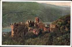 Künstler Ak Hoffmann, H., Heidelberg am Neckar, Schloss von der Molkenkur aus