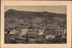 Postcard Neustadt an der Weinstraße, Totalansicht der Ortschaft, Berge
