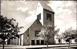 Postcard Meppen im Emsland in Niedersachsen, Blick auf die St. Paulus Kirche