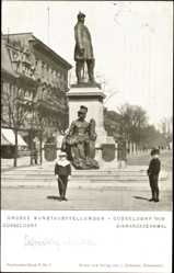 Postcard Düsseldorf am Rhein, Kunstausstellung 1909, Bismarckdenkmal