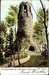 Postcard Netzschkau im Vogtland, Bismarckturm auf dem Kuhberg