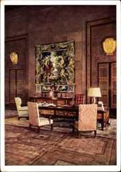 Postcard Berlin Mitte, Neue Reichskanzlei, Architekt Speer, Arbeitszimmer Hitlers