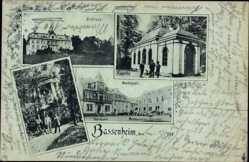 Postcard Bassenheim in Rheinland Pfalz, Markt, Schloss, Kapelle, Mausoleum