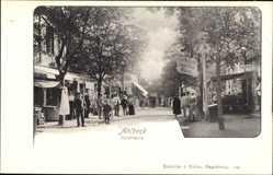 Postcard Ostseebad Ahlbeck Heringsdorf, Seestraße, Carl Mitzlaffs Friseursalon