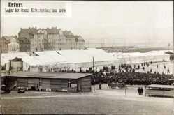 Foto Ak Erfurt in Thüringen, Lager der franz. Kriegsgefangenen 1914