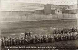 Foto Ak Erfurt in Thüringen, Lager der russischen Kriegsgefangenen