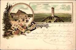 Vorläufer Litho Gehlberg im Ilm Kreis Thüringen, Schmücke, Hotel,Schneekopf,1895