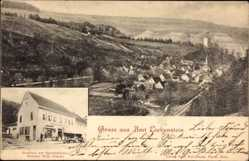 Postcard Amt Liebenstein Thüringen, Gasthaus zur Gerichtslaube, Bes. Wilh. Franke