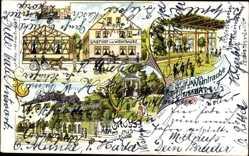 Litho Weimar in Thüringen, Gasthof zur Weintraube, Schloss