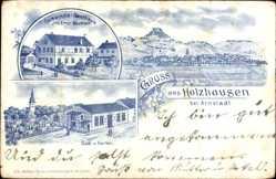 Litho Holzhausen Amt Wachsenberg, Gasthaus Inh. Ernst Baumann, Saal, Garten