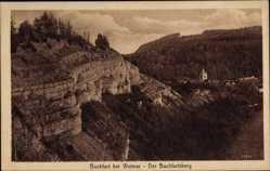 Postcard Buchfart Thüringen, Der Buchfartsberg, Felswald