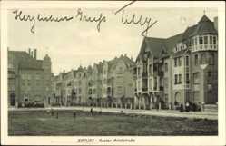 Postcard Erfurt in Thüringen, Gustav Adolf Straße, Wohnhäuser, Platz