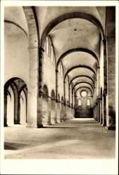 Postcard Eberbach im Rhein Neckar Kreis, ehemalige Zisterziensabtei, Mittelschiff SW