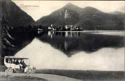 Postcard Kochel am See in Oberbayern, Blick auf den Walchensee, Hotel Zur Post