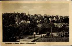 Postcard Lunzenau in Sachsen, Blick von Hohenkirchen auf Stadt