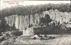 Postcard Themar in Thüringen, Blick auf Eingefallener Berg, Schloss