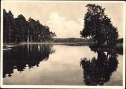 Postcard Mazury Masuren Ostpreußen, Landschaft, Wasserreflektionen