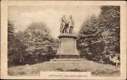 Ak Katowice Kattowitz Schlesien, Zwei Kaiser Denkmal
