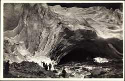 Ak Norwegen, Briksdalsbreen, Gletscher, Bergsteiger