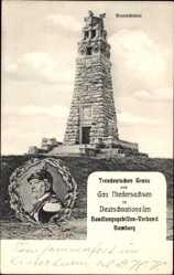 Postcard Hannover in Niedersachsen, Die Bismarcksäule, Bismarck im Portrait