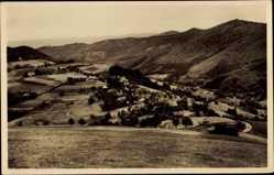 Postcard Langackern Horben im Breisgau, Totalansicht der Ortschaft, Berge