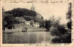 Postcard Kleve am Niederrhein, Schwanenburg vom Kermisdahl aus gesehen