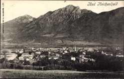Postcard Bad Reichenhall in Oberbayern, Totalansicht der Ortschaft, Gebirge