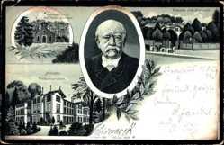 Postcard Friedrichsruh Aumühle, Bismarck, Grabkapelle, Schloss, Eingang