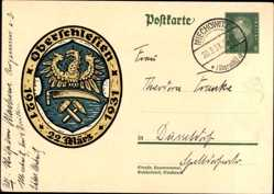 Ganzsachen Ak Oberschlesien, 22 März, 1921 bis 1931