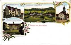Postcard Mansbach Hohenroda Osthessen, V. Geysosches Schloss, Mansbachsches Schloss