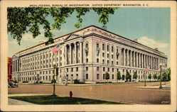Postcard Washington DC USA, Federal Bureau of Investigation, Justice Department