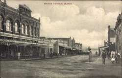 Postcard Burnie Tasmanien Australien, Marine Terrace, Brownell and Co., street
