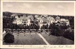 Postcard Polanica Zdrój Bad Altheide Schlesien, Blick von der kath. Kirche auf den Ort